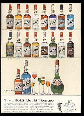 1961 Bols liqueur 19 liqueur bottle photo vintage print ad