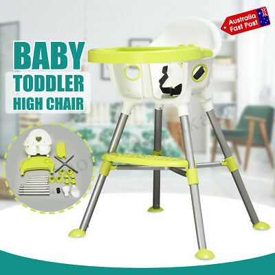 Adjustable Foldable Baby Highchair Toddler Eating Feeding Chair With Seat Belt