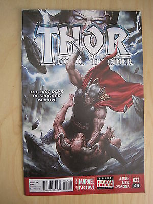 THOR GOD of THUNDER # 23 by AARON & RIBIC. FANTASTIC !. MARVEL NOW! 2014