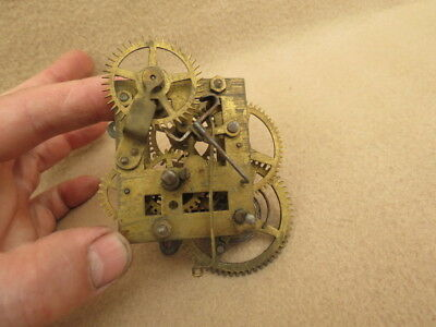 Small Antique American? Spring Driven 30 Hour Shelf Clock Movement