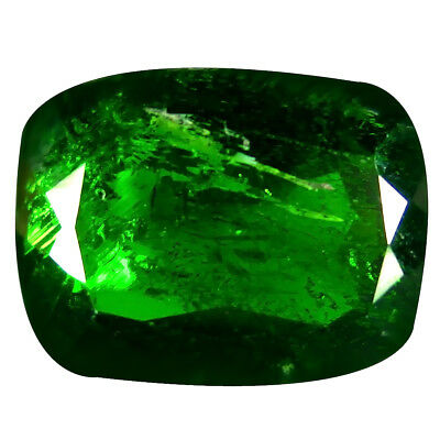 14.43 ct AAA Magnificent fire Cushion Shape (16 x 12 mm) Green Chrome Diopside