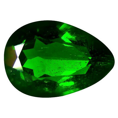 2.39 ct AAA Sparkling Pear Shape (11 x 8 mm) Green Chrome Diopside Gemstone