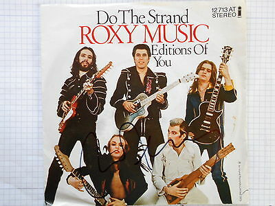 "BRYAN FERRY original signiert – SINGLE ""ROXY MUSIC - DO THE STRAND"""