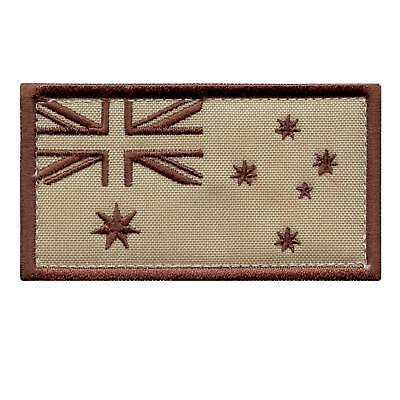Australia flag DCU desert embroidered tactical morale tab sew iron on patch