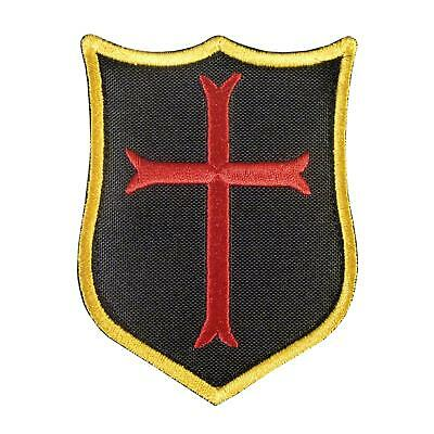 crusader templar cross knight gold squadron embroidered navy sew iron on patch