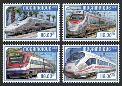 Z08 Imperf Djb18316a Djibouti 2018 European Speed Trains Mnh ** Postfrisch Afrika