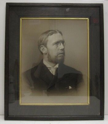 WY Carter Rochdale Signed Original Late 19th C. Charcoal Drawing of a Gentleman