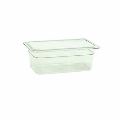 "1 PC Ploy Polycarbonate Food Pan 1/4 Size 4"" Deep  -40°F to 210°F NSF Listed"