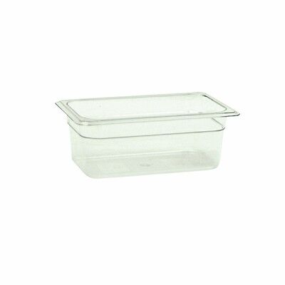 "1 PC Winco Ploy Polycarbonate Food Pan 1/4 Size 4"" Deep  -40°F to 210°F NSF"