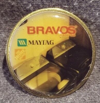 LMH PINBACK Pin  MAYTAG BRAVOS Series Washer Dryer HOME DEPOT Employee Insignia