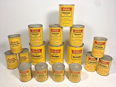 VINTAGE KODAK Film CHEMICALS - Developer Replenisher DK 50R 60A 76R Movie Props