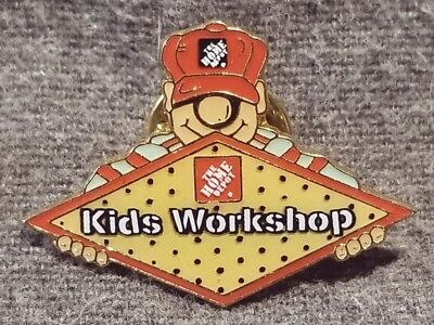 LMH PINBACK Pin  HOME DEPOT Employee Insignia KIDS WORKSHOP Clinic Series