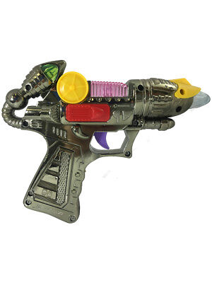 Child's Light Up Toy Space Alien Blaster Gun Weapon Costume Accessory