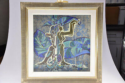 """LU HONG """" Serenade """" Signed Limited Numbered 107/175 Painting 20"""" x 20"""""""