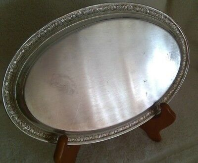 "Vintage INTERNATIONAL STERLING~Prelude~Oval Platter Salver Tray~DECO~8.5"" by 6"""