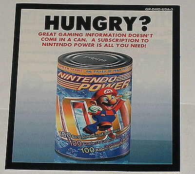 Hungry? Nintendo Strom Original echte Magazin Abonnement Booklet