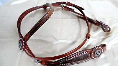 Western Horse - Bridle With Reins - Hide And Stars