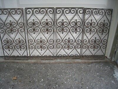 4 vintage  Scroll Wrought Iron Metal  Window Guards MUST PICK UP