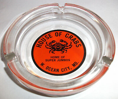 Ashtray House Of Crabs Glass W. Ocean City Md Home Of Super Jumbos