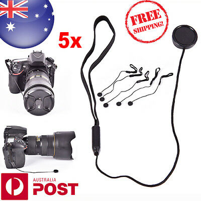 5x Camera Lens Cover Cap Keeper Holder Strap Lanyard Rope Anti-lost String Z763F