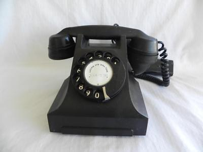 Collectable Vintage Black Bakelite PMG 332 Rotary Hand Dial Telephone / Phone