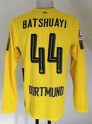 Borussia Dortmund 2017/18 L/s Home Shirt Batshuayi 44 By Puma Size Adults Medium