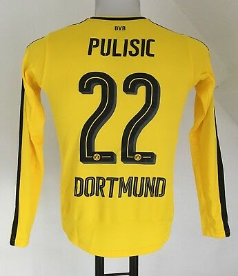 Borussia Dortmund 2016/17 L/s Home Shirt Pulisic 22 By Puma Size 11-12 Years
