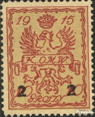 German. Post Poland-Warsaw 7 (complete issue) used 1915 Local P