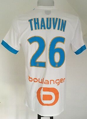 Olympic Marseille 2017/18 S/s Home Shirt Thauvin 26 By Adidas Large Ligue1 Badge