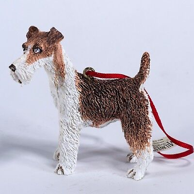 Vintage Wire Hair Fox Terrier Dog Ornament Figurine Midwest of Cannon Falls