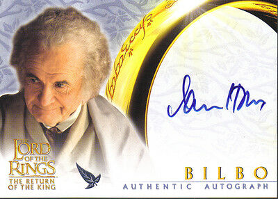 Lord Of The Rings Return Of The King Autograph Card Bilbo