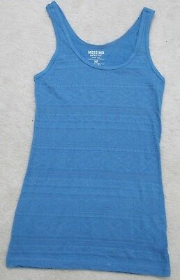 abc3ee2d625f1 Mossimo Supply Co. Blue Sleeveless Tank Top Shirt XS Extra Small Women s  Cotton