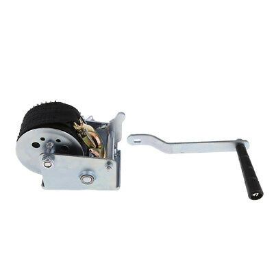 Boat Trailer Hand Winch Gear Synthetic System with Strap and Heavy Duty Hook