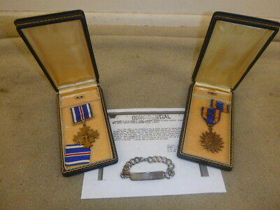 Rare Ww 2 Named, Cased Air Medal & Dfc To P-51 Pilot Pow 107Th Recon Sqd, 9Th Af