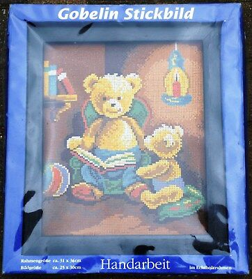 Gobelin Stickbild * Sticken * Stickpackung * Teddys