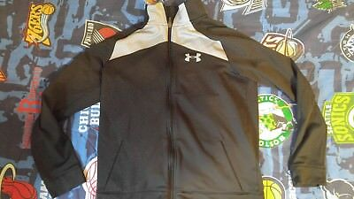 Under Armour youth xl jacket black/gray zip up