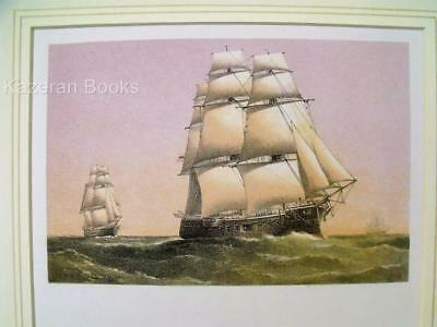 Antique Colour Lithographic Print HMS Sultan Victorian Ships Of The Royal Navy