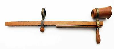 Antique French Wood & Brass Optometer Ophthalmology Optometry Optical Optician
