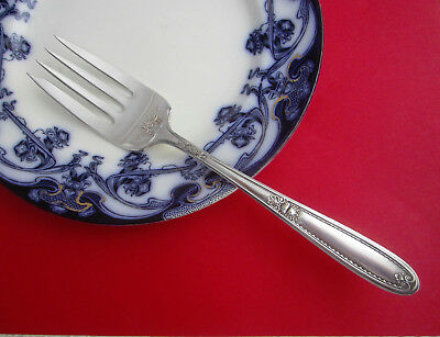 """Antique 1921 Rare Williams Bros LOIS Silver Plate Meat Serving Fork 8-1/4"""""""