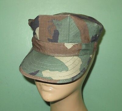 US Military Issue Marine Corps USMC 8 Point Woodland Utility Cover Hat Cap Sz XS