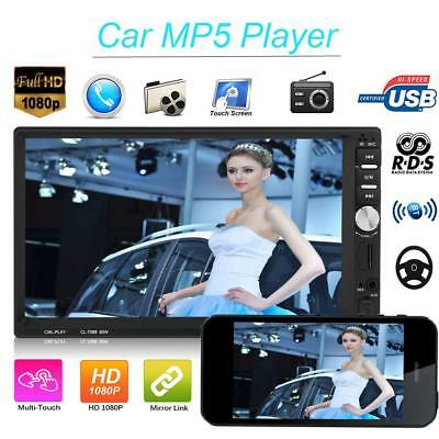 7'' Touch Car MP5 Player Stereo Radio Double 2 Din In Dash Bluetooth FM TF USB