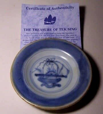Tek Sing (True Star) Shipwreck Treasure   Dish   Sank in 1822        Ship Wreck