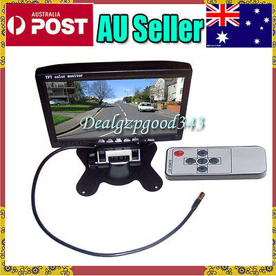 """AU 7"""" TFT LCD Car Rearview Monitor 2CH Video input For DVD & Reversing Camera"""