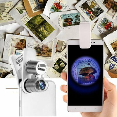 60X Optical Zoom Clip Telescope Camera Microscope Lens for Universal Cell Phone