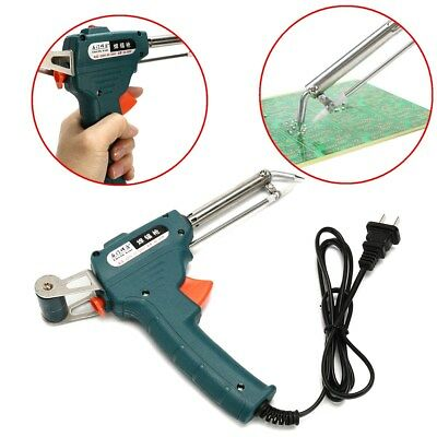 Auto Electric Temperature Gun 220V 60W Welding  Soldering Iron Solder Tool Kit