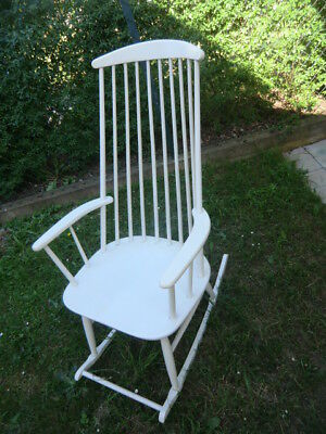 SCHAUKELSTUHL ROCKING CHAIR DANISH DESIGN SESSEL 60er 70er