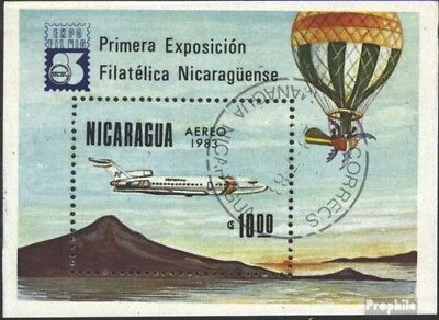 Nicaragua block151 (complete issue) used 1983 EXPOFILNIC