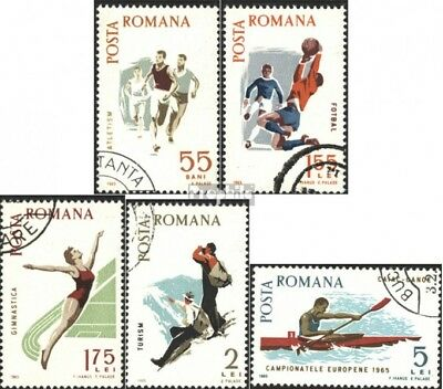 Romania 2452-2456 (complete issue) used 1965 Sports