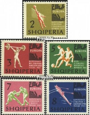 Albania 763-767 (complete issue) used 1963 European Championshi