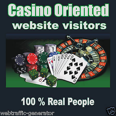 5,000 Real Visitors! CASINO TARGETED website traffic! 100% Adsense Safe!